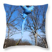 Deciduous Photographed Outside Throw Pillow by Adam Long