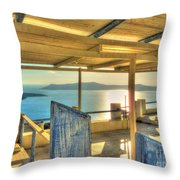 Deck View Of The Med Throw Pillow