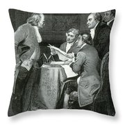 Declaration Committee Throw Pillow