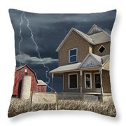 Decline Of The Small Farm Number 6 Version 2 Throw Pillow