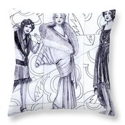 Deco Fashions Throw Pillow