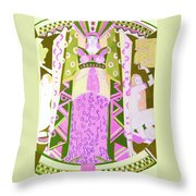 Deco Ladies Frostwork And Iris Throw Pillow
