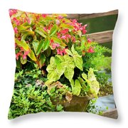 Decorated With Pink Throw Pillow
