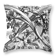 Decorative Engraving Throw Pillow