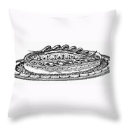 Decorative French Cuisine Throw Pillow