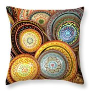 Decorative Plates Provence France Throw Pillow