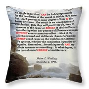 Decree 1996 Throw Pillow