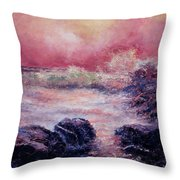 Dee Why Storm Throw Pillow