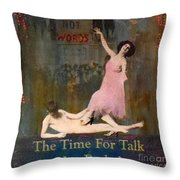 Deeds Not Words Throw Pillow by Desiree Paquette
