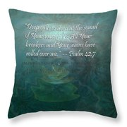 Deep Calls To Deep Throw Pillow by Christopher Gaston