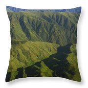Deep Canyons Drain To Rio Apurimac Throw Pillow