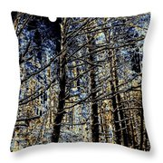 Deep In The Moonlit Forest Throw Pillow