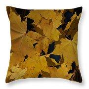 Deep Leaves Throw Pillow