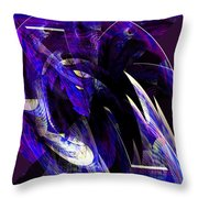 Deep Purple Abstract Throw Pillow