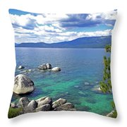 Deep Waters Lake Tahoe Throw Pillow