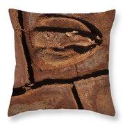 Deer Imprint In Mud Throw Pillow