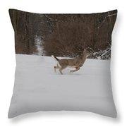 Deer Run Throw Pillow