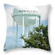Deerfield Beach Tower Throw Pillow