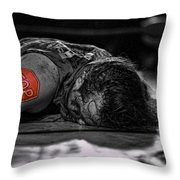 Defeated No. 3 Throw Pillow