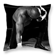 Defeated No. 4 Throw Pillow