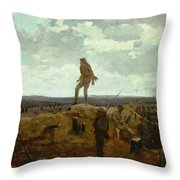 Defiance - Inviting A Shot Before Petersburg Throw Pillow by Winslow Homer