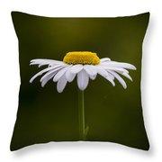 Defiant Daisy Throw Pillow