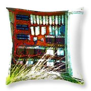 Defused Box Throw Pillow