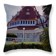 Del Coronado Hotel San Diego  Throw Pillow