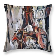 Delaunay: Eiffel Tower, 1910 Throw Pillow