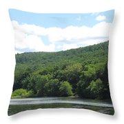 Delaware Water Gap Scenery Throw Pillow