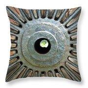 Deleon Springs Wheel Spoke Throw Pillow