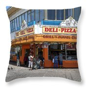 Deli Pizza Grill Funnel Cakes Throw Pillow