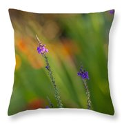 Delicate And Vivid Throw Pillow