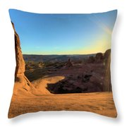 Delicate Arch Bowl Throw Pillow