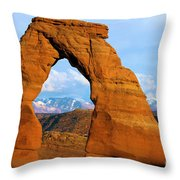 Delicate Arch Closeup Throw Pillow