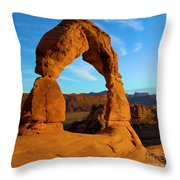 Delicate Arch Portrait Throw Pillow