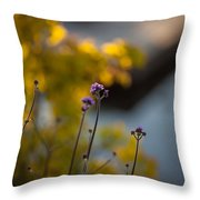 Delicate Bursts Of Purple Throw Pillow