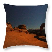 Delicate Moonlight Throw Pillow