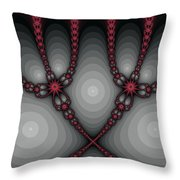 Delicate Red Throw Pillow