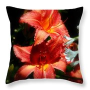Delightful Daylily Throw Pillow
