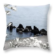 Delightful Spring Throw Pillow