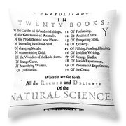 Della Portas Natural Magick, 1658 Throw Pillow