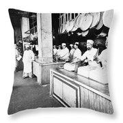 Delmonicos Restaurant Throw Pillow