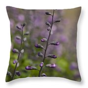 Delphinium Haze Throw Pillow