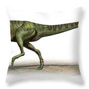 Deltadromeus Agilis, A Prehistoric Era Throw Pillow