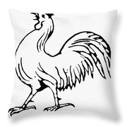 Democratic Rooster, 1840 Throw Pillow