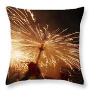 Demon Sparking Throw Pillow