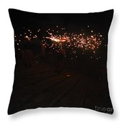 Demons Down The Stairs Throw Pillow