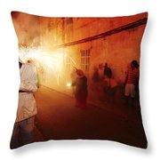 Demons In The Street Throw Pillow