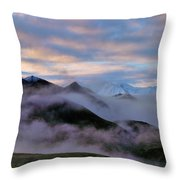 Denali Dawn Throw Pillow